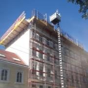 Sockelsanierung Dachausbau Semperstraße Wien