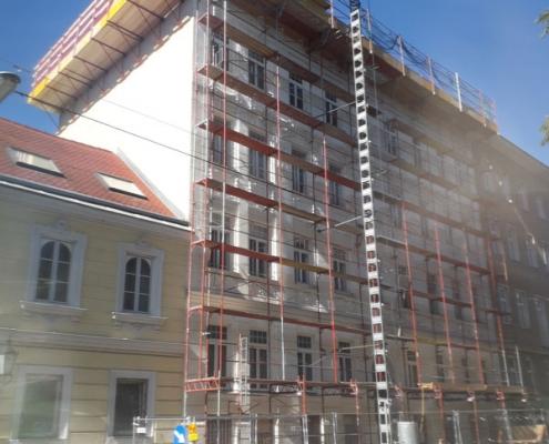 Sockelsanierung Dachausbau Semperstrasse Wien